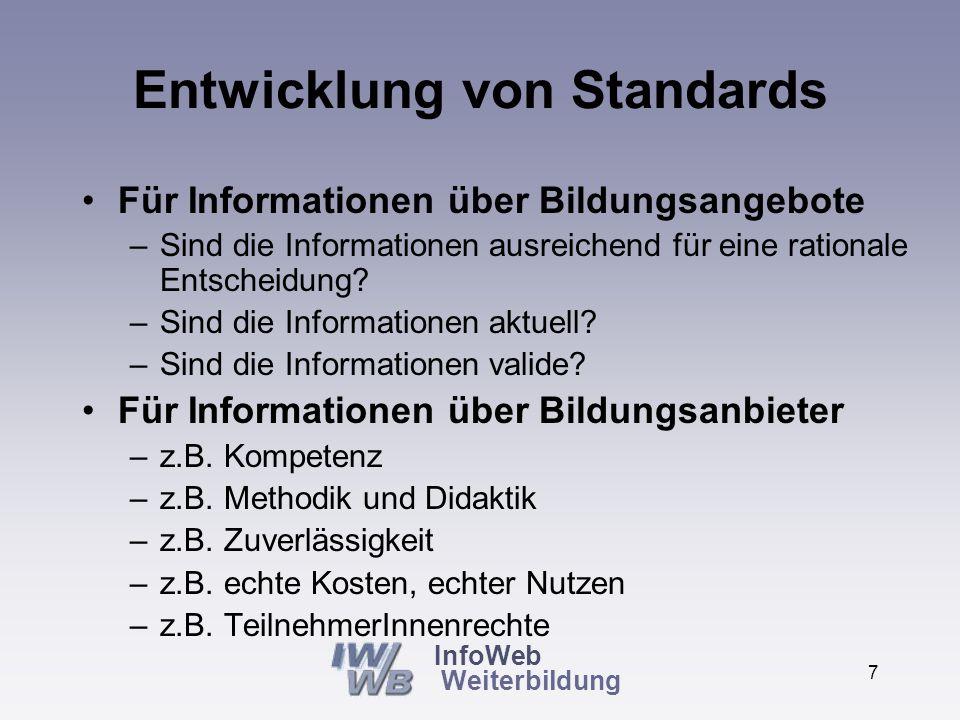 InfoWeb Weiterbildung 6 Beispiel NRW-Datenbank