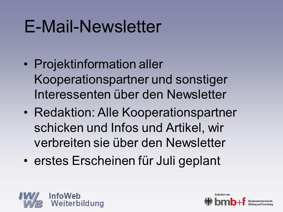 InfoWeb Weiterbildung Entwicklung eines E-Mail-Newsletters
