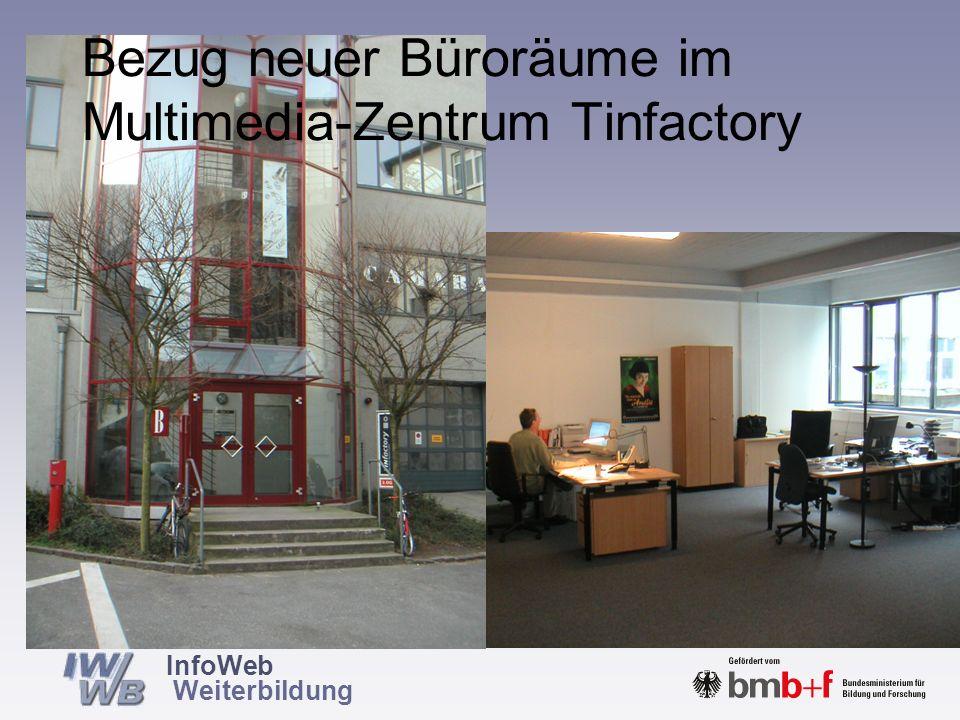 Bezug neuer Büroräume im Multimedia-Zentrum Tinfactory