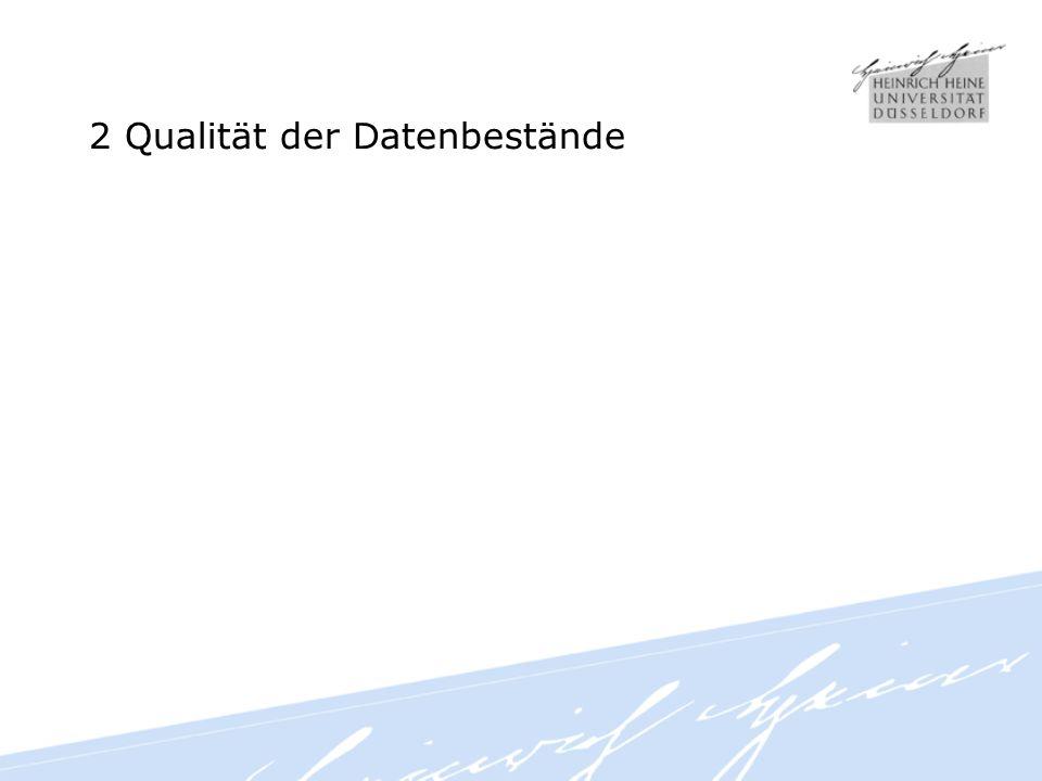 2 Qualität der Datenbestände