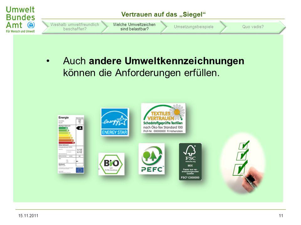 Vertrauen auf das Siegel Zurückhaltung ist geboten bei herstellereigenen Umweltkennzeichnungen.