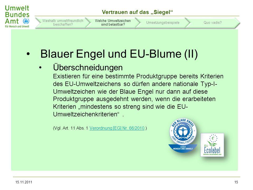 Vertrauen auf das Siegel 15.11.201116 Weshalb umweltfreundlich beschaffen.