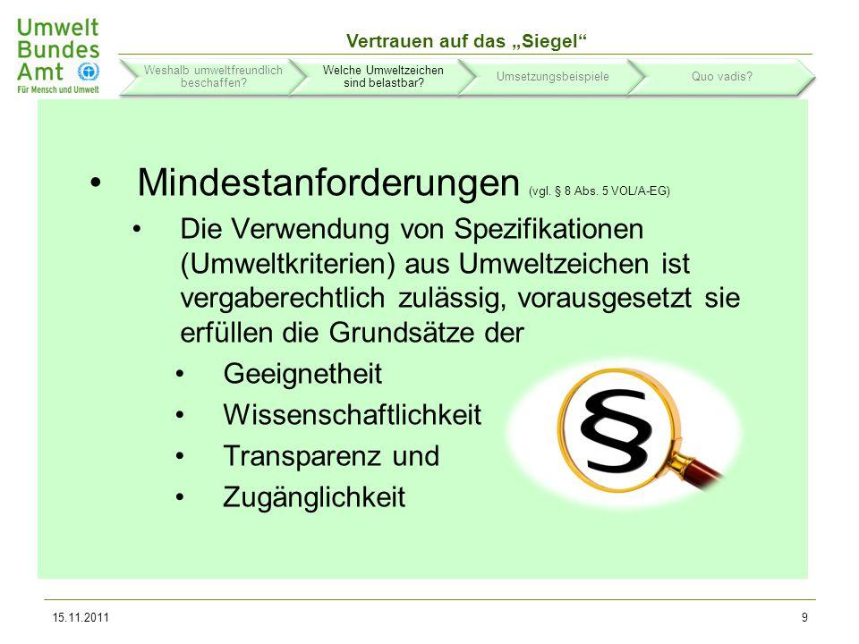 Vertrauen auf das Siegel Typ-I-Umweltzeichen wie der Blaue Engel oder die Euro-Blume (d.h.