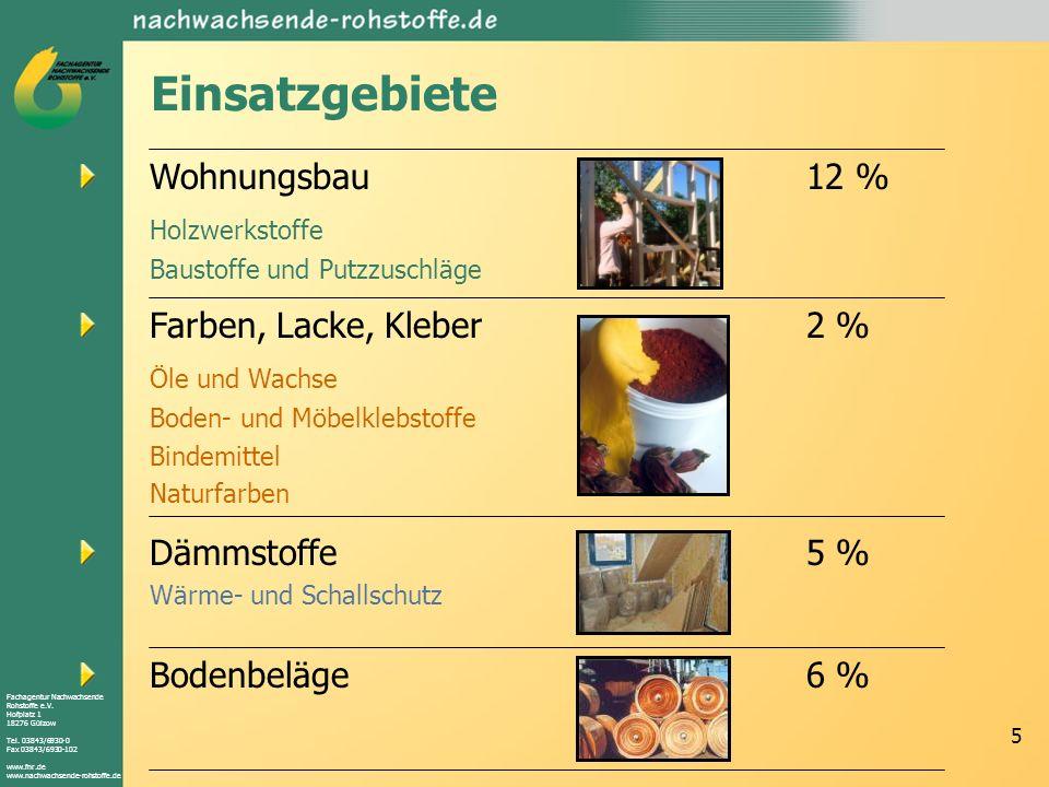 Fachagentur Nachwachsende Rohstoffe e.V. Hofplatz 1 18276 Gülzow Tel. 03843/6930-0 Fax 03843/6930-102 www.fnr.de www.nachwachsende-rohstoffe.de 5 Eins