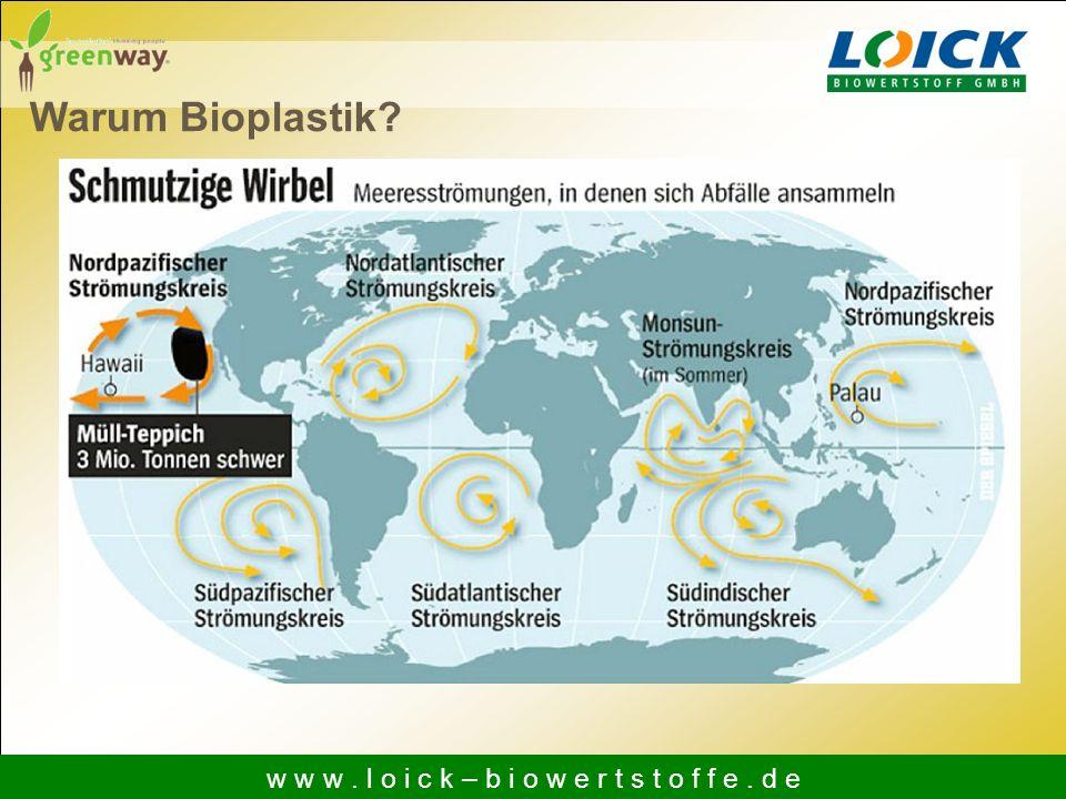 Warum Bioplastik? w w w. l o i c k – b i o w e r t s t o f f e. d e