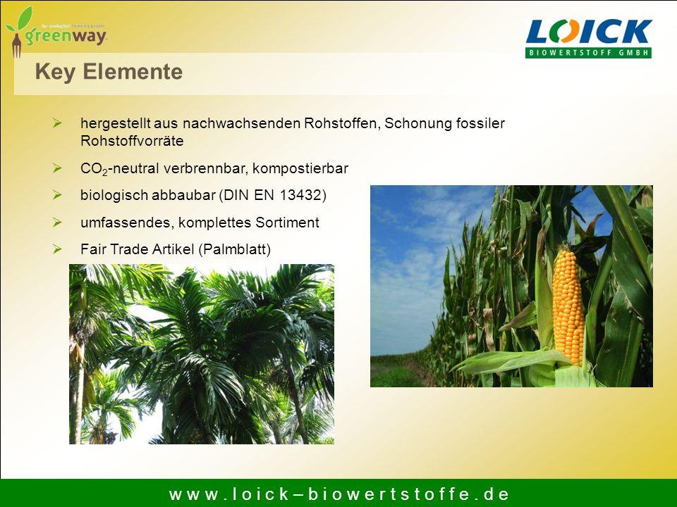 hergestellt aus nachwachsenden Rohstoffen, Schonung fossiler Rohstoffvorräte CO 2 -neutral verbrennbar, kompostierbar biologisch abbaubar (DIN EN 1343