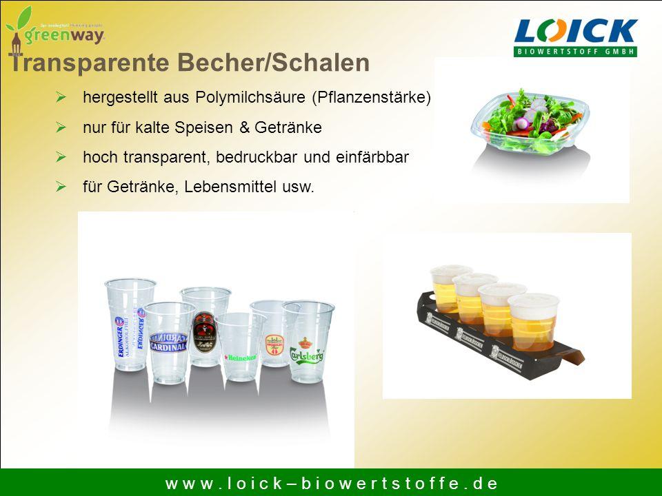 hergestellt aus Polymilchsäure (Pflanzenstärke) nur für kalte Speisen & Getränke hoch transparent, bedruckbar und einfärbbar für Getränke, Lebensmitte