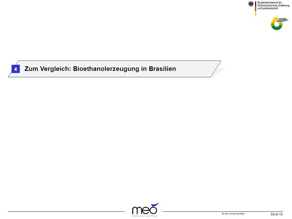 © meó Consulting Team Seite 19 Zum Vergleich: Bioethanolerzeugung in Brasilien 4