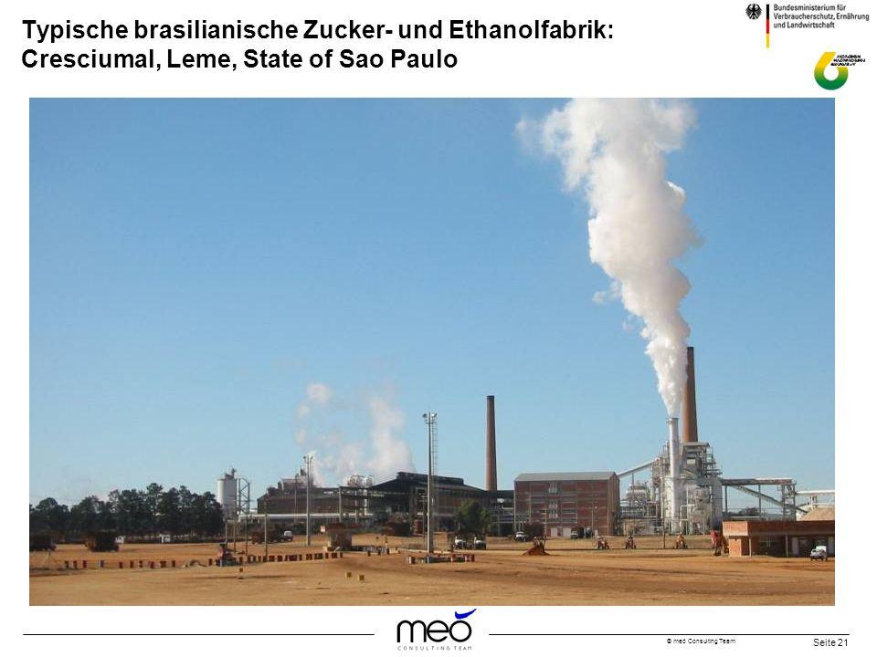 © meó Consulting Team Seite 21 Typische brasilianische Zucker- und Ethanolfabrik: Cresciumal, Leme, State of Sao Paulo