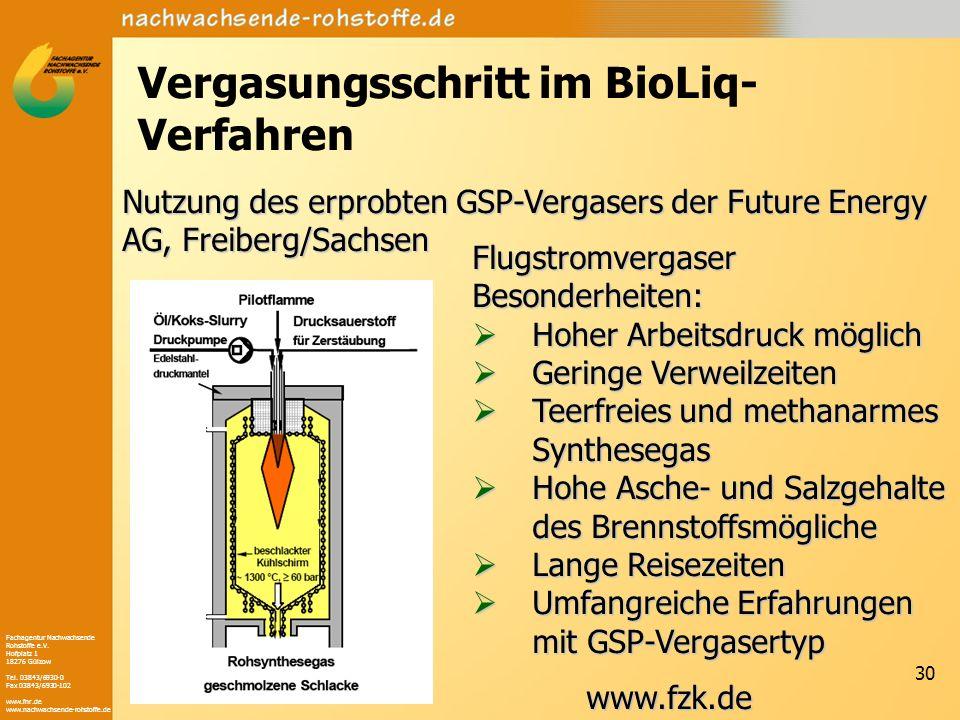 Fachagentur Nachwachsende Rohstoffe e.V. Hofplatz 1 18276 Gülzow Tel. 03843/6930-0 Fax 03843/6930-102 www.fnr.de www.nachwachsende-rohstoffe.de 30 Ver
