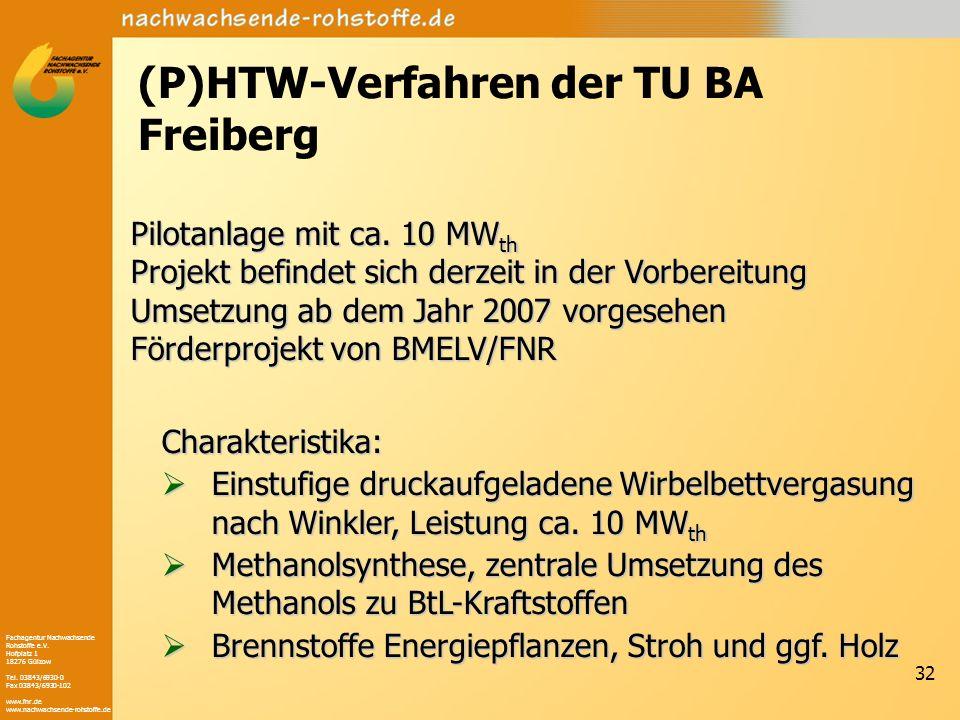 Fachagentur Nachwachsende Rohstoffe e.V. Hofplatz 1 18276 Gülzow Tel. 03843/6930-0 Fax 03843/6930-102 www.fnr.de www.nachwachsende-rohstoffe.de 32 (P)