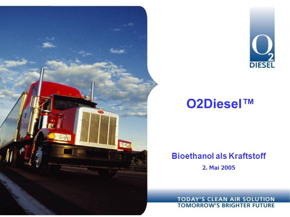 Das Unternehmen Marktführende Stellung in Diesel-Ethanol Kraftstoffen Existiert seit 1998, 4 Jahre kommerzielle Erfahrung Zulassungen in USA und Brasilien Starke Partner, Starke IP/Patentposition Gelistet an AMEX (OTD)