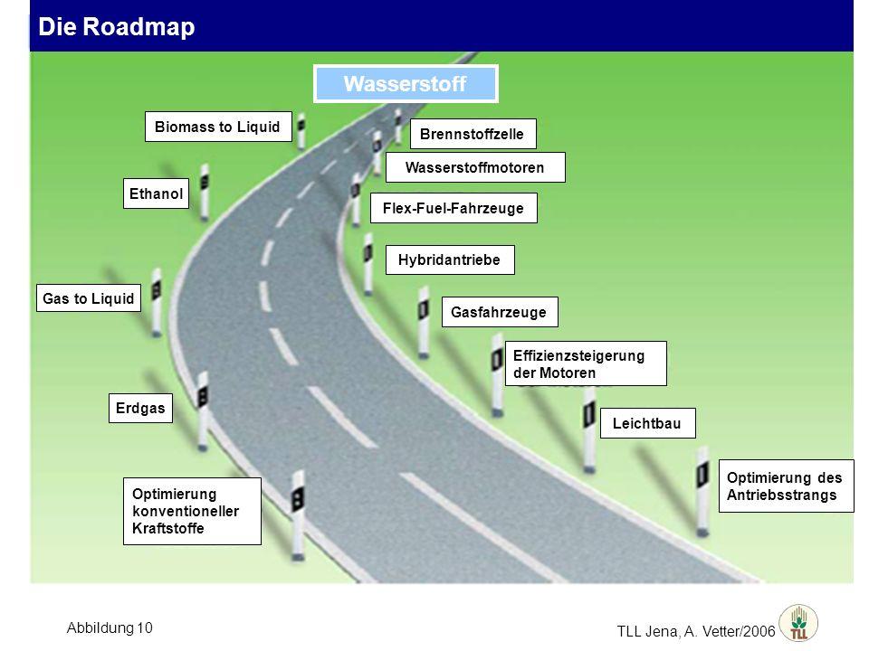 TLL Jena, A. Vetter/2006 Biomass to Liquid Ethanol Gas to Liquid Erdgas Optimierung konventioneller Kraftstoffe Brennstoffzelle Wasserstoffmotoren Fle