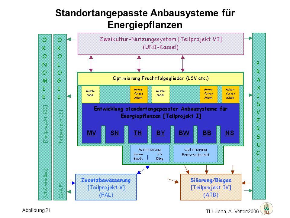 TLL Jena, A. Vetter/2006 Standortangepasste Anbausysteme für Energiepflanzen Abbildung 21
