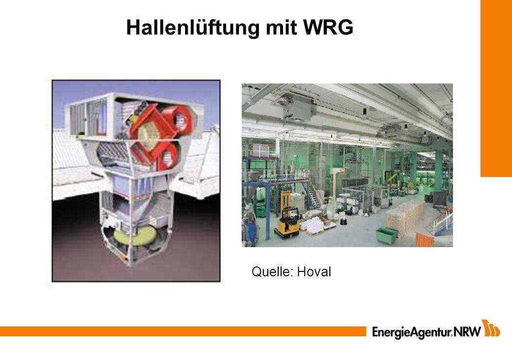 Hallenlüftung mit WRG Quelle: Hoval