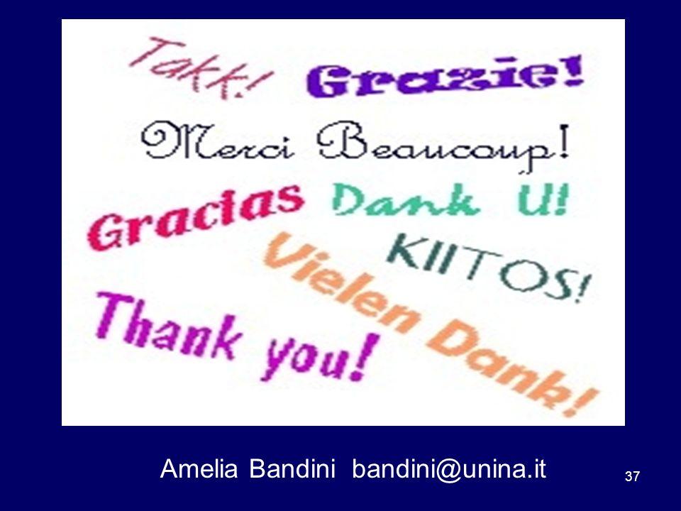 37 Amelia Bandini bandini@unina.it