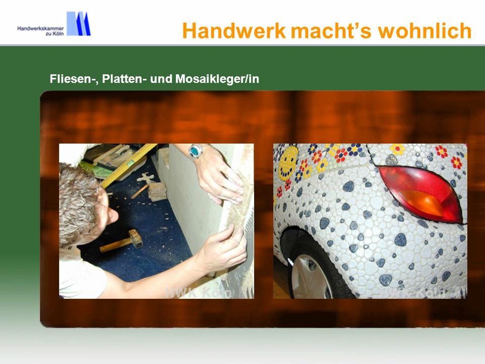 Handwerk machts wohnlich Fliesen-, Platten- und Mosaikleger/in