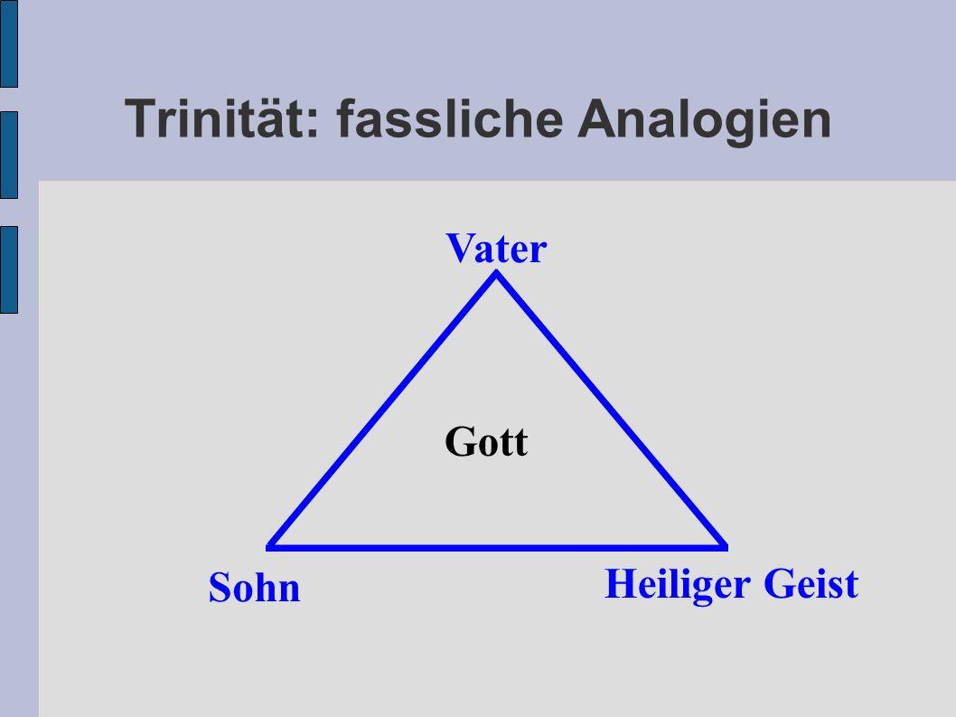 Trinität: fassliche Analogien Vater Gott Sohn Heiliger Geist