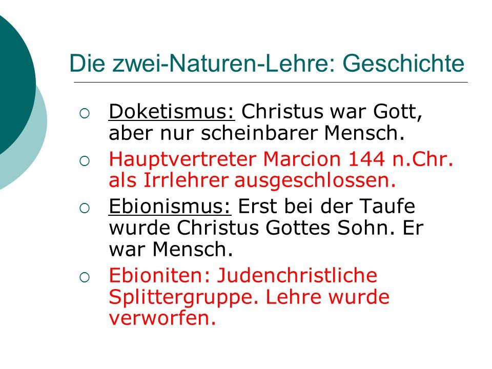 Die zwei-Naturen-Lehre: Quiz 1.