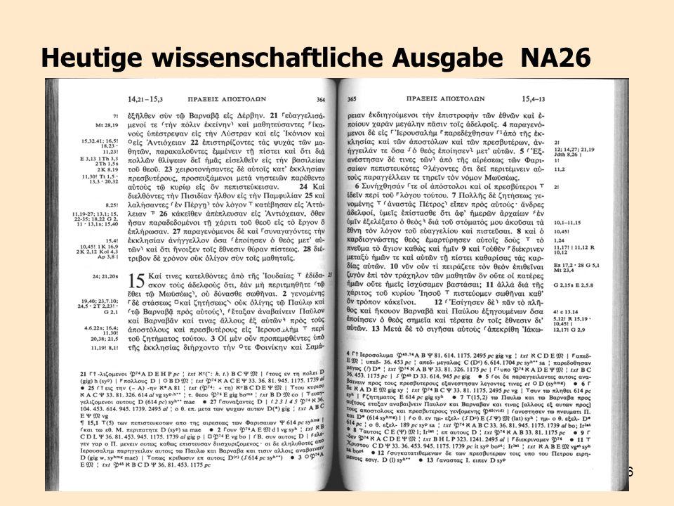 26 Heutige wissenschaftliche Ausgabe NA26