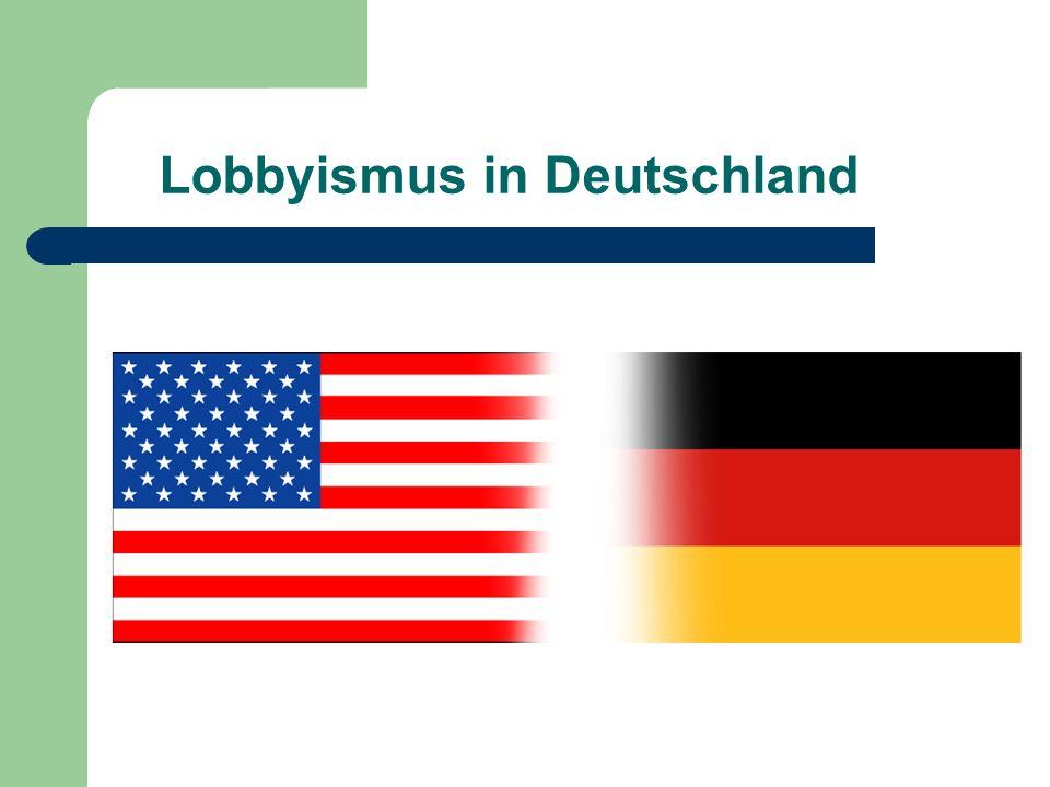 Lobbyismus in Deutschland