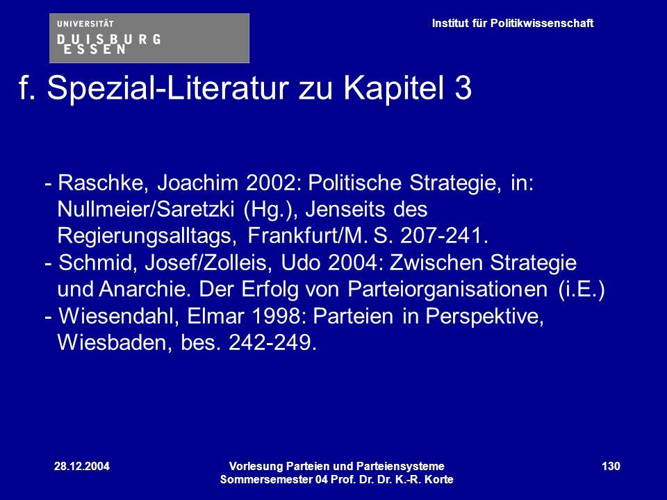 Institut für Politikwissenschaft 28.12.2004Vorlesung Parteien und Parteiensysteme Sommersemester 04 Prof. Dr. Dr. K.-R. Korte 130 - Raschke, Joachim 2