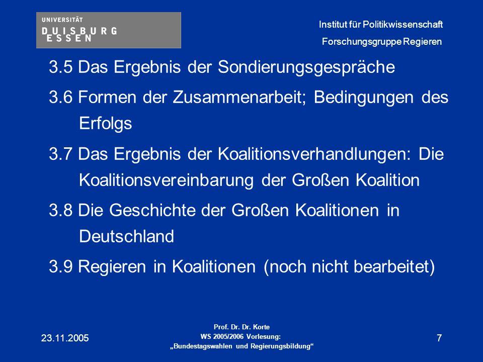 Institut für Politikwissenschaft Forschungsgruppe Regieren Prof.