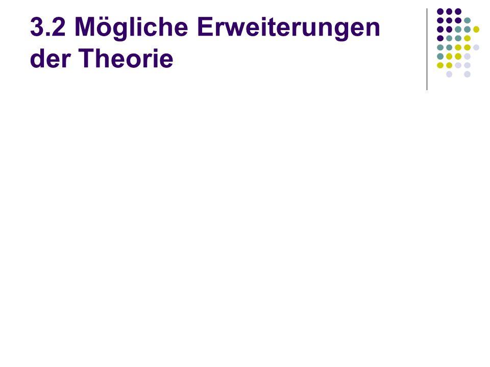 3.2 Mögliche Erweiterungen der Theorie
