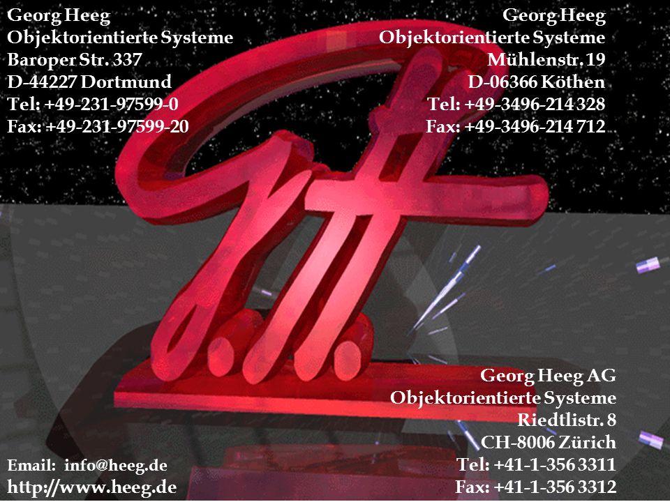Georg Heeg - OOP 2000 1 Georg Heeg Objektorientierte Systeme Baroper Str.