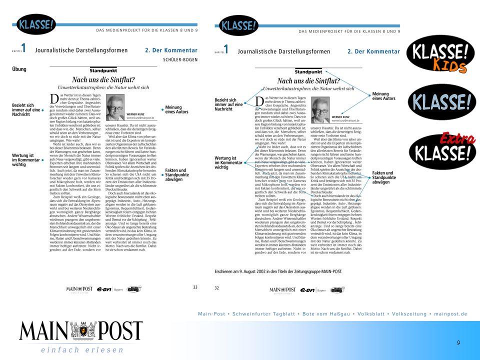 10 Anker im Produkt Tägliche Jugendseite Autoren: Jugendliche 14 - 20 Jahre Redakteurin: Moderation Eigene Redaktionskonferenz Interaktive Elemente Events