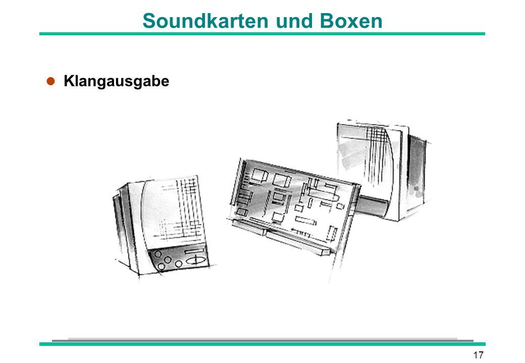 17 Soundkarten und Boxen l Klangausgabe