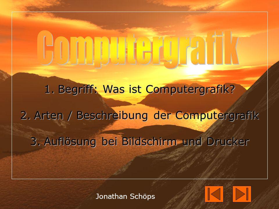 1.Begriff: Was ist Computergrafik.