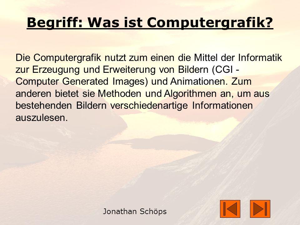 Begriff: Was ist Computergrafik.