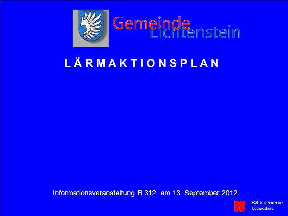 Lärmaktionsplan Informationsveranstaltung B 312 am 13.