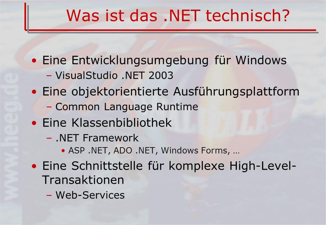 Was ist das.NET technisch.