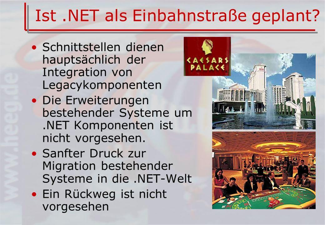 Ist.NET als Einbahnstraße geplant.