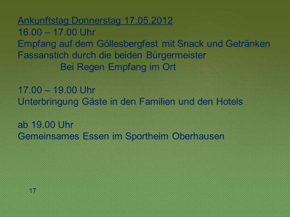 16 Programmentwurf Feierlichkeiten Donnerstag, 17.05.2012 ca.