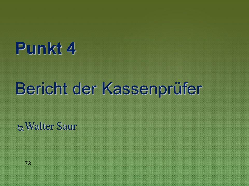 Manfred Hinderer Punkt 3 Bericht des Kassierers 72