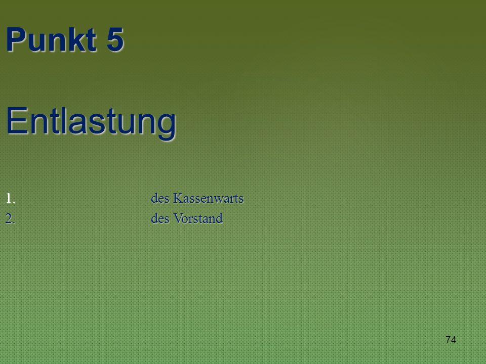 Walter Saur Walter Saur Punkt 4 Bericht der Kassenprüfer 73