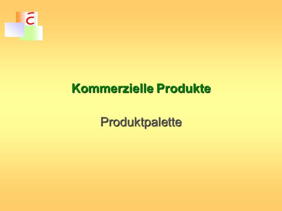 Kommerzielle Produkte Produktpalette