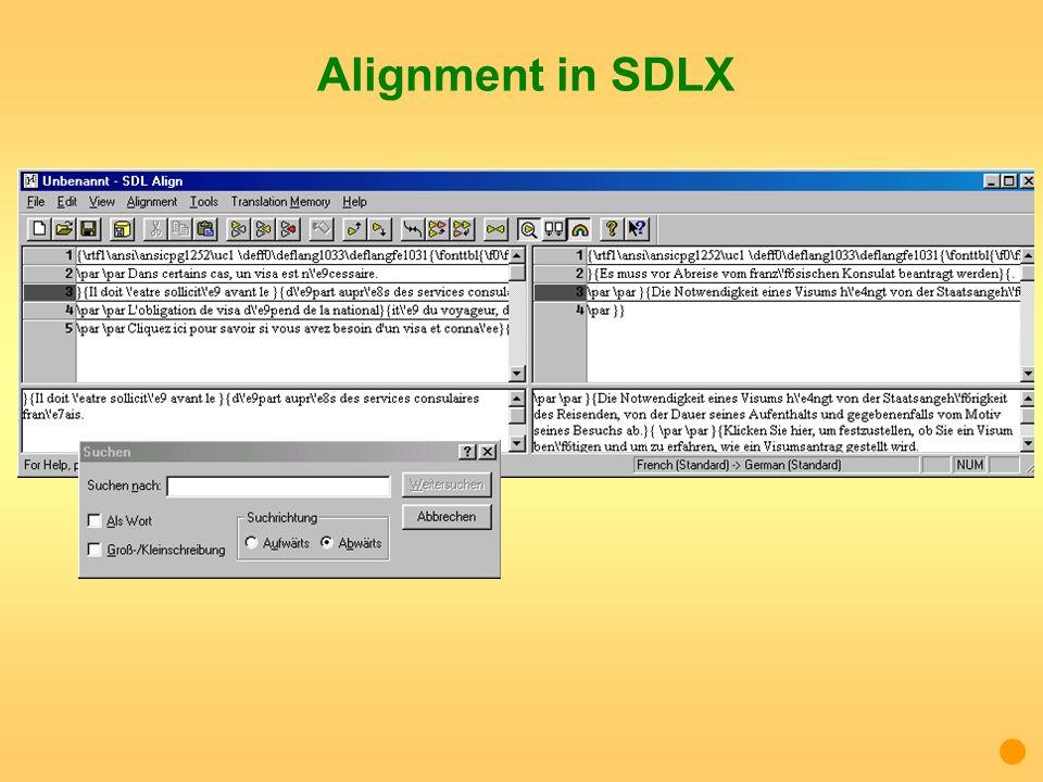 Alignment in SDLX