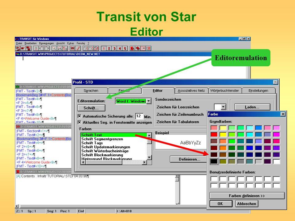 Transit von Star Editor Editoremulation