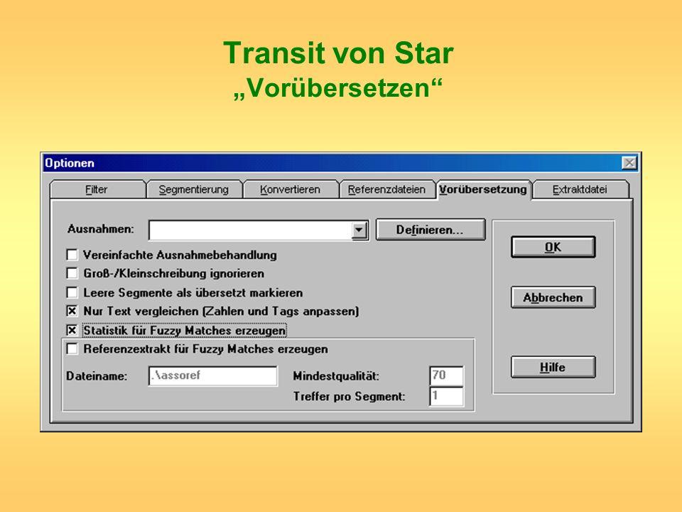 Transit von Star Vorübersetzen