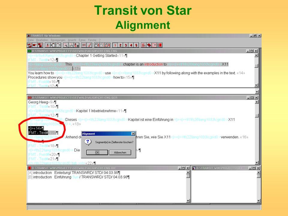 Transit von Star Alignment