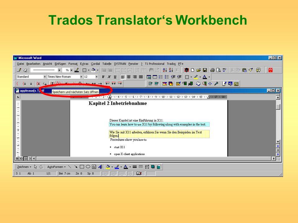Trados Translators Workbench