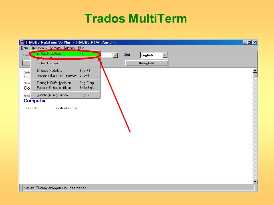Trados MultiTerm