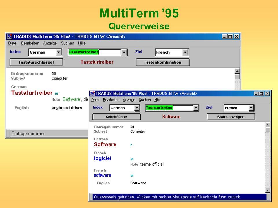 MultiTerm 95 Querverweise