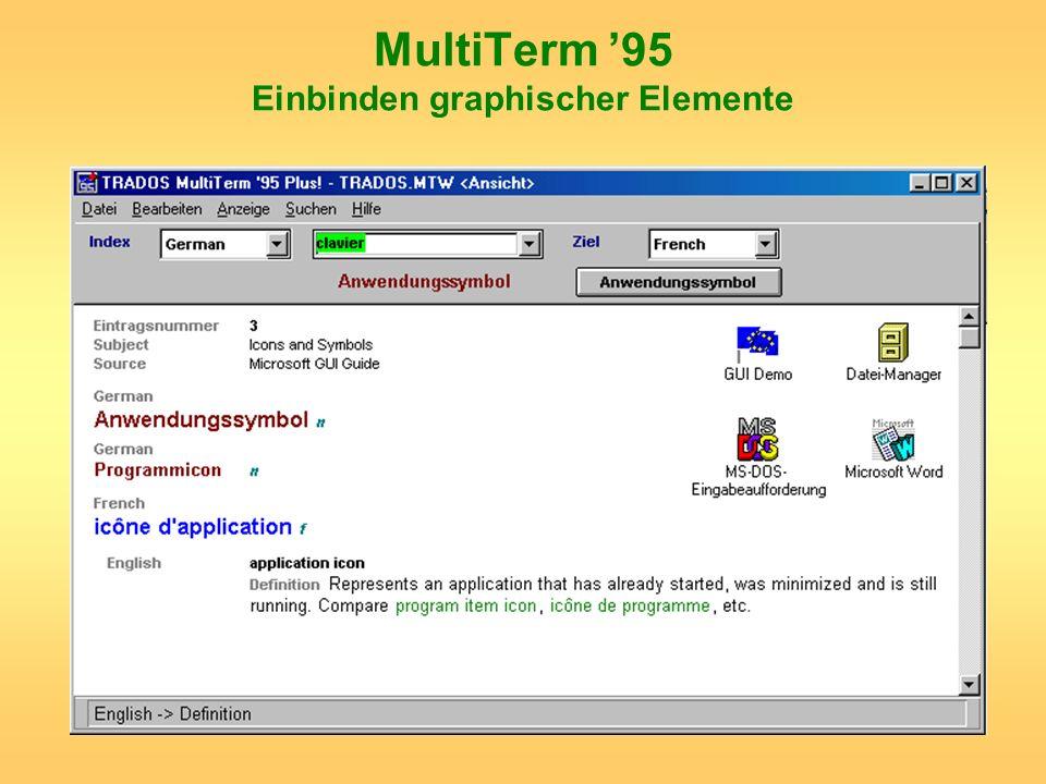 MultiTerm 95 Einbinden graphischer Elemente