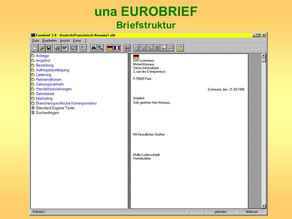 una EUROBRIEF Briefstruktur