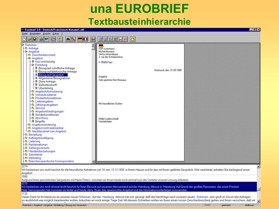 Evaluation der linguistischen Performanz Ausklammern der Benutzerschnittstellen aus der Evaluation.